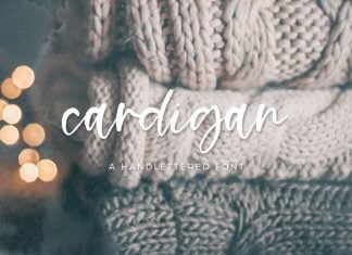 Cardigan Script - Handlettered Font
