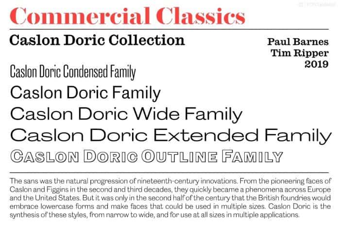 Caslon Doric Font