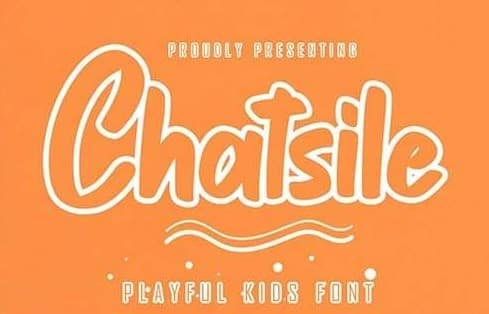 Chatsile Playful Kids Font