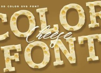 Cheese 3D Color SVG Font