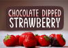 Chocolate Dipped Strawberry Font