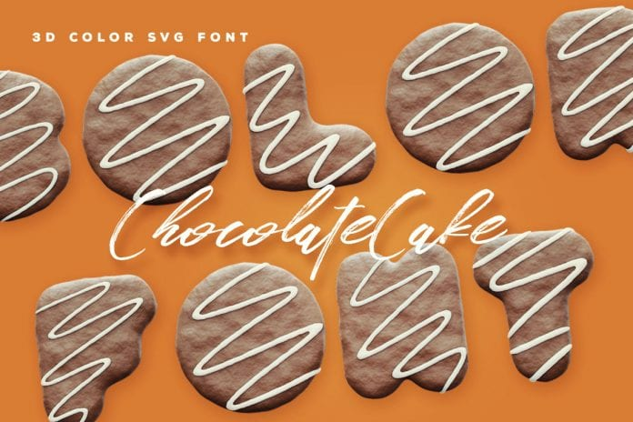 Chocolate Cake 3D Color SVG Font