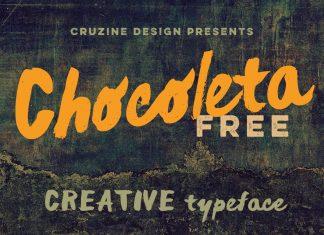 Chocoleta Brush Font