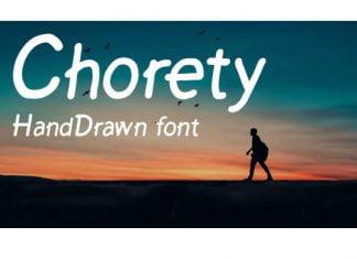 Chorety Font