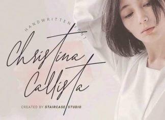 Christina Callista - Handwritten Font