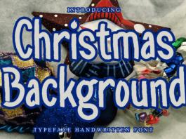 Christmas Background Font