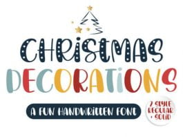 Christmas Decorations Font