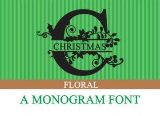 Christmas Floral Font