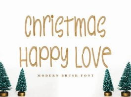 Christmas Happy Love Font
