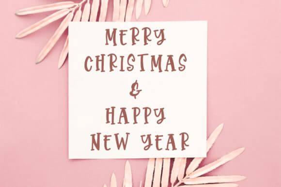 Christmas Monstera Font