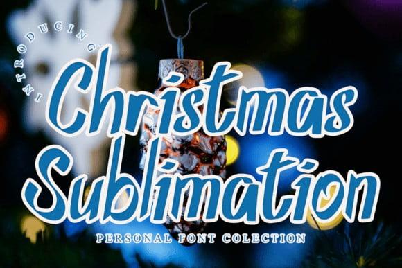 Christmas Sublimation Font