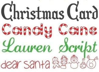 Christmas Fonts Free Download // 24 Font