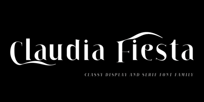 Claudia Fiesta Font Family