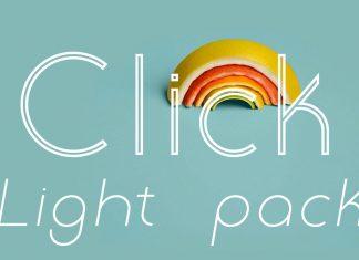 Click Light Pack Font