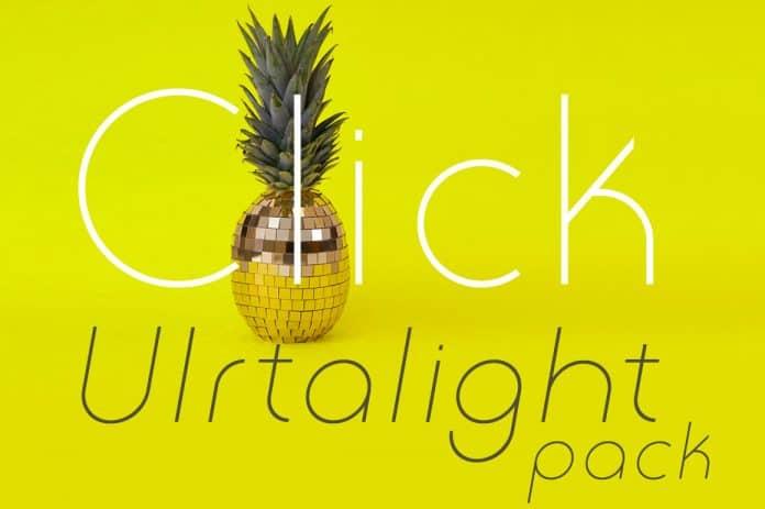 Click Ultralight Pack Font
