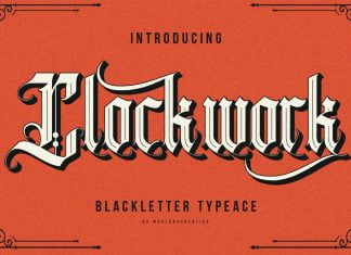 Clockwork - Blackletter Typeface Font