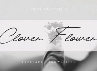 Clover Flower Font