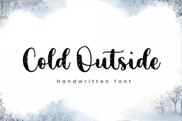 Cold Outside Script Font