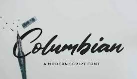 Columbian - Script Font
