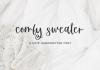 Comfy Sweater Font