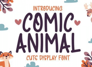 Comic Animal - Quirky & Cute Display Font