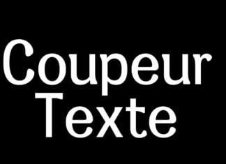 Coupeur texte Font
