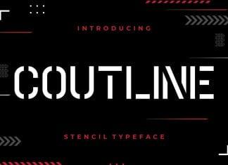 Coutline Stencil Typeface