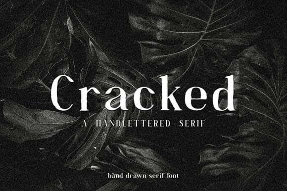 Cracked Font