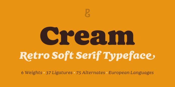 Cream Font Family - 12 Fonts