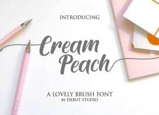 Cream Peach Font