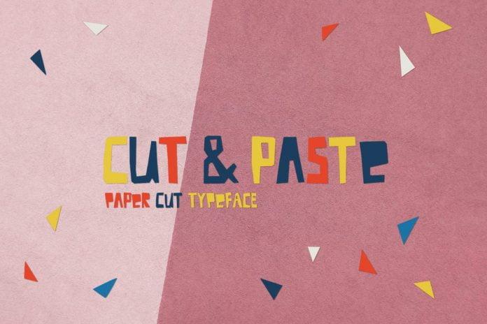 Cut And Paste - Paper Cut Font