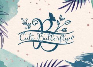 Cute Butterfly Monogram Font