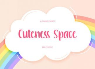 Cuteness Space Font