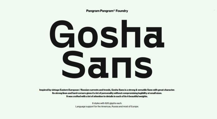 Gosha Sans Font