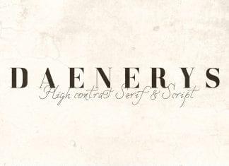 DAENERYS Serif and Script Font Duo
