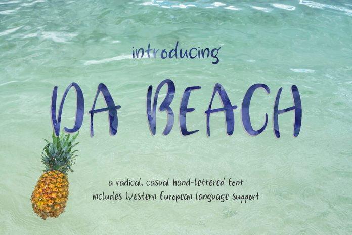 Da Beach Hand Font