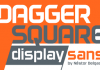 Dagger Square Display Font (2-Weights)