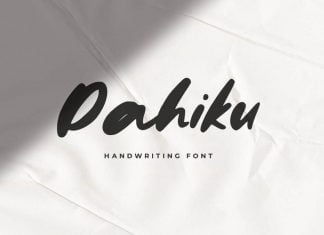 Dahiku - Handwriting Font