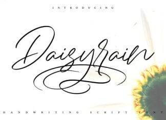 DaisyRain Handwriting Script Font
