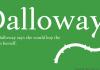 Dalloway Font