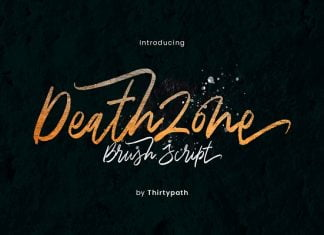 Death Zone Brush Font