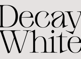 Decay White Font