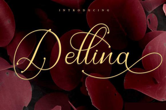 Dellina Script Font