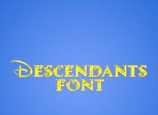 Descendants font