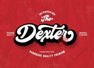 Dexter Script font