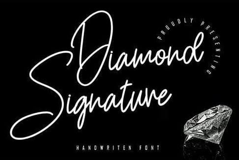 Diamond Signature Handwritten Font