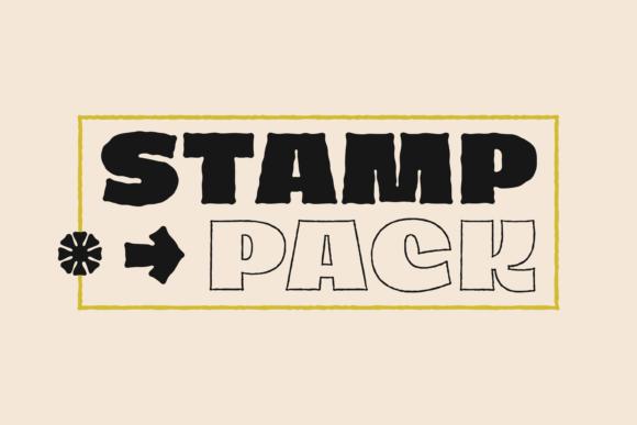 Dingos Stamp Font Pack