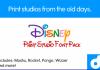 Disney Print Studios Official Fonts