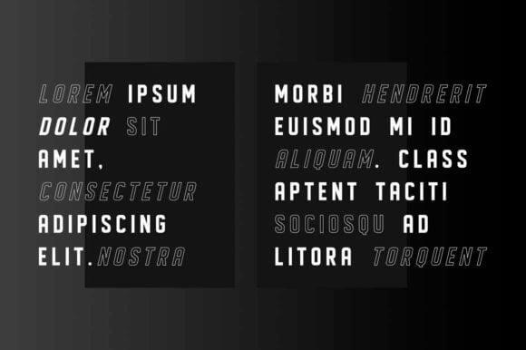 Displayed Font