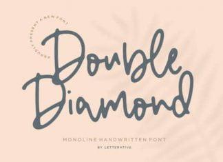 Double Diamond Script Font